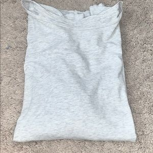 Plain light gray tee